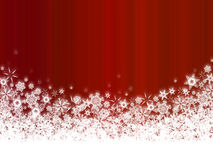White Snowflakes On Dark Red Background Royalty Free Stock Images