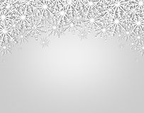 Christmas illustration,. White snowflakes over grey  background Stock Images