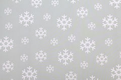 White snowflakes on paper Royalty Free Stock Photography
