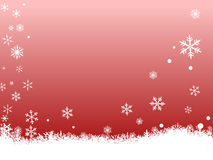 White SnowFlakes on Red vector illustration