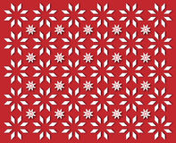 White snowflakes on red background. Wallpaper simple white snowflakes on dark red background Royalty Free Stock Image