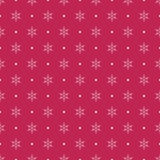 White snowflakes on red background Royalty Free Stock Photography