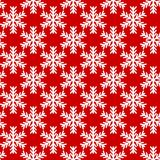 White snowflakes on red background. seamless vector pattern. White snowflakes on red background. vector seamless pattern Stock Photos