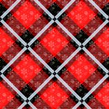 White snowflakes seamless with red tartan pattern. Winter white snow and plaid holidays collection. Vector illustration vector illustration