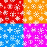 White snowflakes set on different backgrounds Stock Photography