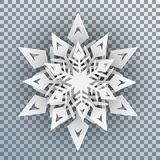 White snowflakes with shadow - vector. White snowflakes with shadow - stock vector Vector Illustration