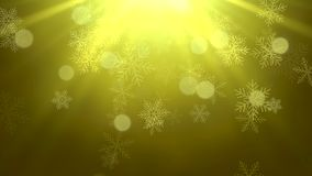 White snowflakes, stars and abstract bokeh particles falling stock video