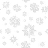 White snowflakes vector seamless background Stock Photography