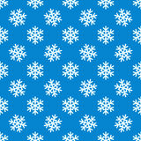 White snowflakes vector seamless pattern Stock Photos