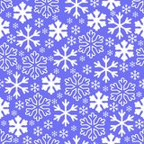 White snowflakes on winter gray sky background. Christmas vector. Pattern design for backdrop royalty free illustration