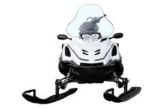 White snowmobile. Stock Image