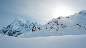White Snowy Mountain Landscape Stock Image