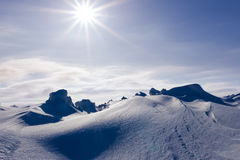 White snowy mountains Stock Photos