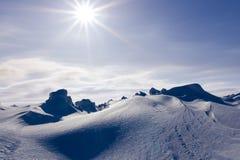 White snowy mountains Stock Photos
