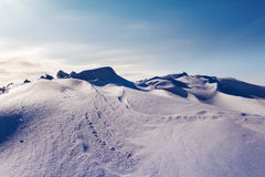 White snowy mountains Stock Images