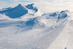 White snowy mountains Royalty Free Stock Photography
