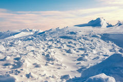 White snowy mountains Royalty Free Stock Photo