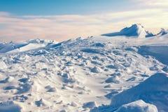 White snowy mountains Royalty Free Stock Photo