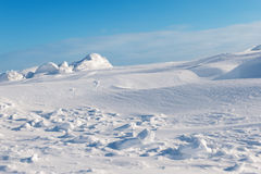 White snowy mountains Royalty Free Stock Images