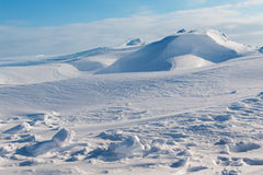 White snowy mountains Stock Photography