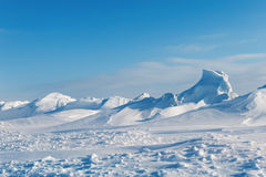 White snowy mountains Stock Images
