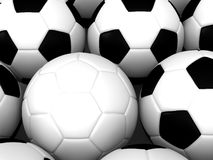 White Soccer Ball Stock Photos