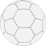 White soccer ball. On white background. Vector illustration made with mash Stock Image