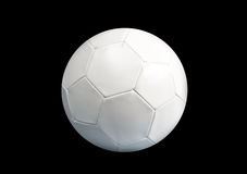 White Soccer ball on black background Stock Photography