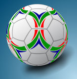 White soccer ball Royalty Free Stock Images