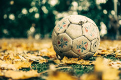 White Soccer Ball Tilt Shift Lens Stock Images