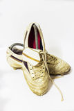 White soccer shoes Royalty Free Stock Photos