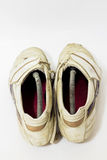 White soccer shoes Royalty Free Stock Images