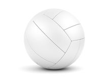 White soccerball on white closeup Royalty Free Stock Photo