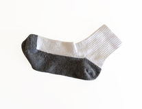 White Sock Isolated on White Background with Clipping Path Stock Photos