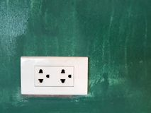 a socket on the wall royalty free stock photo