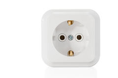 White socket with earthing Royalty Free Stock Image