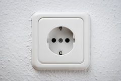 White socket on wall Royalty Free Stock Image