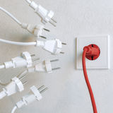 White Sockets Need To Plugging In Stock Images