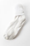 White Socks. With white background Royalty Free Stock Image