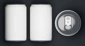 White soda cans Stock Photos