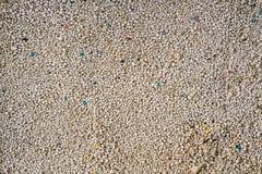White Sodium Bentonite Cat Litter or cat sand Royalty Free Stock Photo
