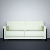 White sofa. In the living room with a gray floor Stock Photo