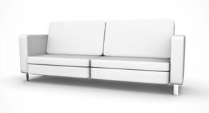 White sofa. Simple modern white sofa. 3D rendered illustration Stock Image