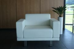 White sofa. Close up of a white sofa Stock Photo