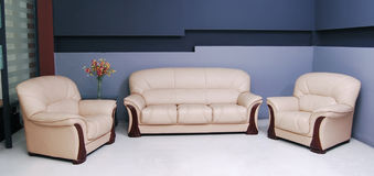 White sofa Stock Photography