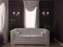 White sofa Royalty Free Stock Photo