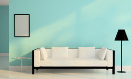 White sofa chair decoration in living room modern Royalty Free Stock Images
