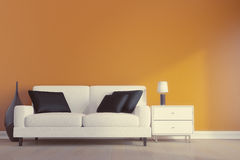 White Sofa Stock Images