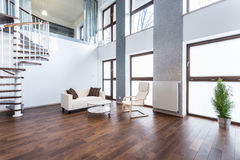 White sofa in empty interior Stock Photo