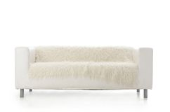 White sofa isolated on white background Stock Photos